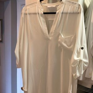 White Lush 3/4 length tunic